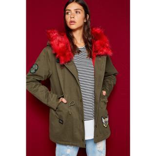 Koton Womens Green Coat dámské Other 34