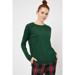 Koton Womens Green Crew Neck Sweater dámské Other XS