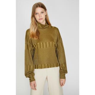 Koton Womens Green Turtleneck T-Shirt Other XL