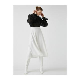 Koton Womens High Waist Midi Skirt dámské Ecru S