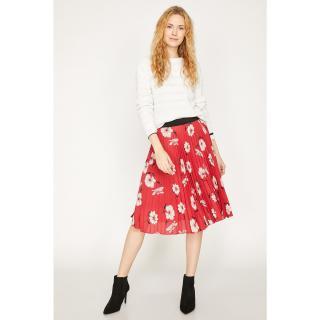 Koton Womens Red Patterned Skirt dámské Other 38