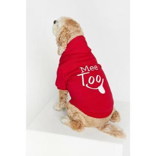 Koton Womens Red Printed Dog Sweatshirt Other XS