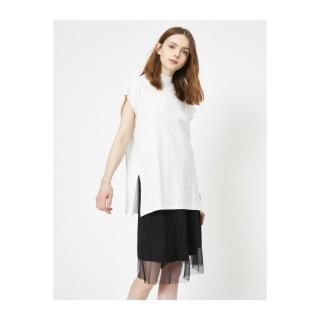 Koton Womens White Crew Neck T-Shirt dámské Ecru XL