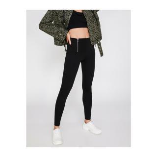 Koton Womens Zipper Detailed Leggings dámské Other XS