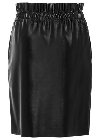 Koženková sukňa dámské čierna 34,36,38,40,42,44,46,48