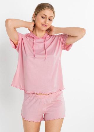 Krátke pyžamo LENZING™ ECOVERO™ dámské ružová 32/34,36/38,40/42,44/46,48/50,52/54