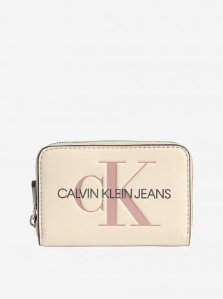 Krémová dámska peňaženka Calvin Klein dámské