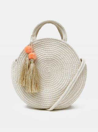 Krémová kabelka Pieces Nilo dámské