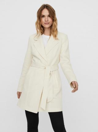 Krémový ľahký kabát VERO MODA Rodona dámské krémová XS