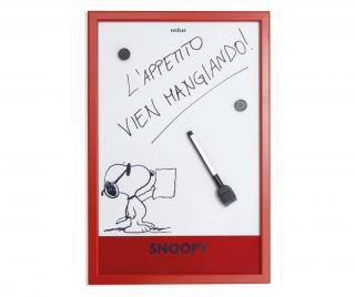 Kuchyňská nástěnka Peanuts 30x45 cm Červená 30x45 cm