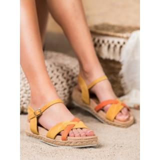 KYLIE ESPADRILLES SANDALS dámské shades of yellow and gold 40