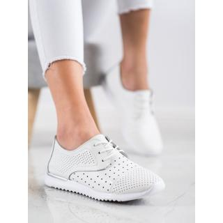 KYLIE OPENWORK LEATHER HALF-SHOES dámské white 37