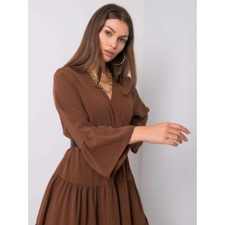 Ladies´ brown dress with a frill dámské Neurčeno One size