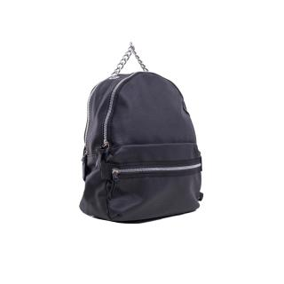 Ladies black imitation leather backpack Other One size