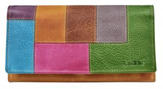 Lagen Dámska kožená peňaženka V-17 / D Yellow/Multi dámské