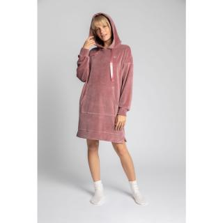 LaLupa Womans Dress LA010 dámské Crepe Pink XXL