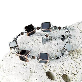 Lampglas Elegantný náramok Clear Night z perál Lampglas BCU25 dámské čierna