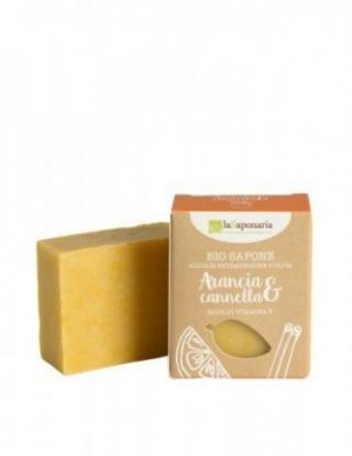 laSaponaria Tuhé olivové mydlo BIO 100 g Pomeranč - skořice