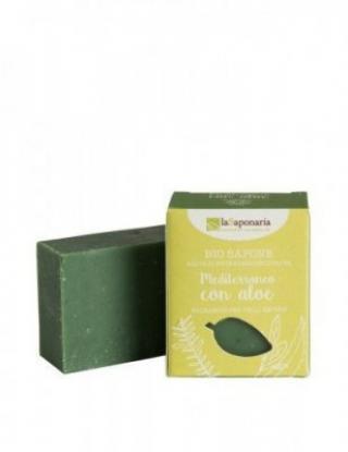 laSaponaria Tuhé olivové mydlo BIO 100 g Středomořské bylinky a aloe