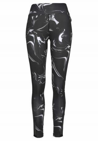 LASCANA ACTIVE Športové nohavice  biela / čierna dámské S