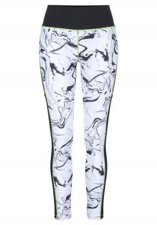 LASCANA ACTIVE Športové nohavice  čierna / biela dámské XL