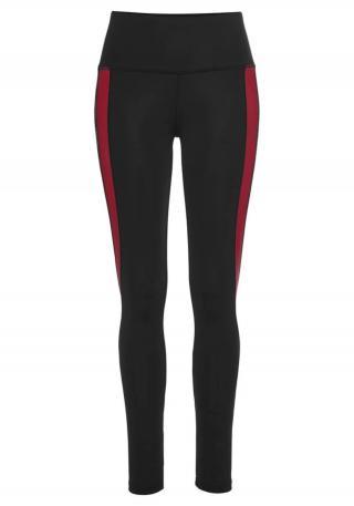 LASCANA ACTIVE Športové nohavice  čierna / červená dámské L