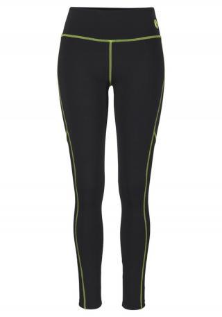 LASCANA ACTIVE Športové nohavice  čierna / neónovo žltá dámské XS