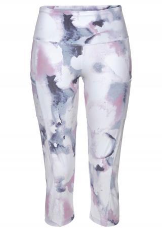 LASCANA ACTIVE Športové nohavice LA Performance Basic Cap  biela / námornícka modrá / ružová dámské XS