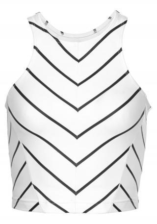 LASCANA ACTIVE Športový top  biela / čierna dámské L