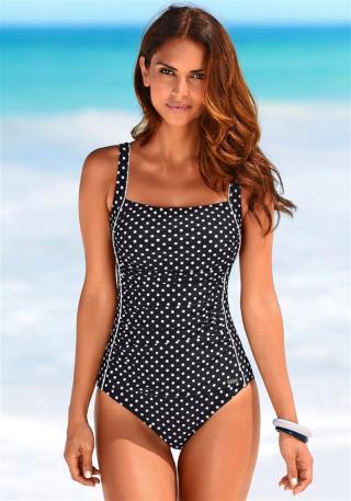 LASCANA Formujúce plavky  čierna / biela dámské XL-XXL