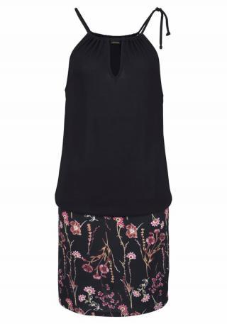 LASCANA Letné šaty  cyklaménová / čierna dámské 40