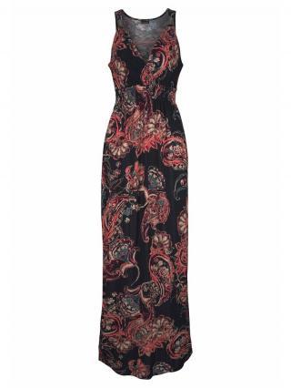 LASCANA Letné šaty  zmiešané farby / čierna dámské 42