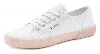 LASCANA Nízke tenisky  biela / staroružová dámské 39
