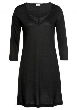 LASCANA Nočná košieľka Luxury  čierna dámské XS