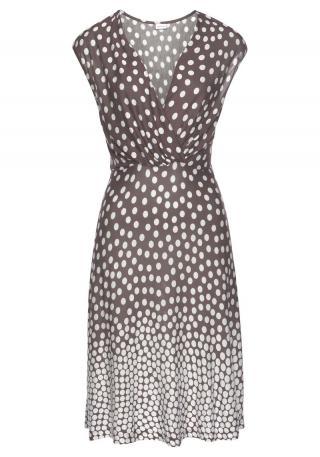 LASCANA Plážové šaty Dalmatiner  krémová / hnedá dámské 34