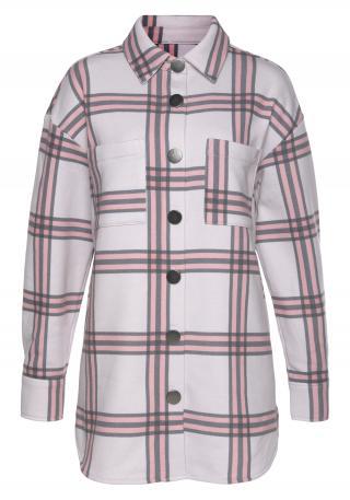 LASCANA Prechodná bunda  sivá / ružová / krémová dámské L-XL