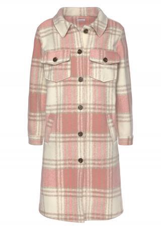 LASCANA Prechodný kabát  béžová / ružová dámské S