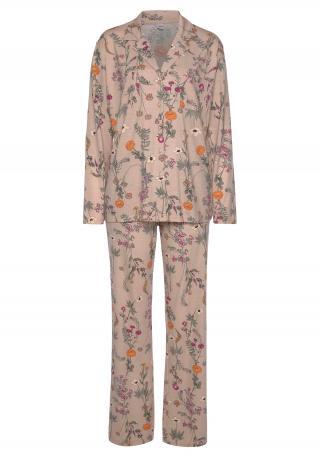 LASCANA Pyžamo  oranžová / ružová / námornícka modrá dámské XS