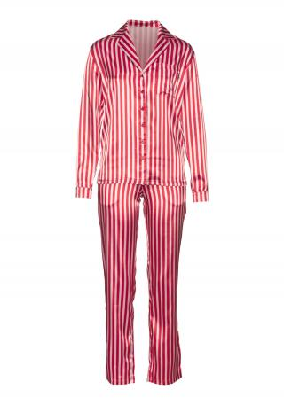 LASCANA Pyžamo  ružová / biela dámské S