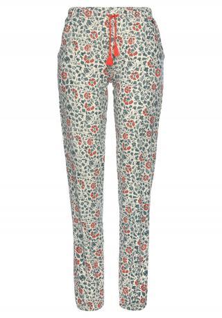 LASCANA Pyžamové nohavice  béžová / zmiešané farby dámské XXL-XXXL