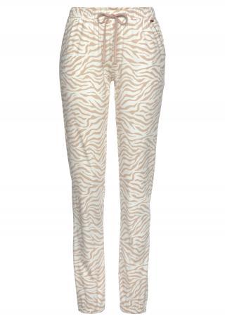 LASCANA Pyžamové nohavice  svetlohnedá / biela dámské L