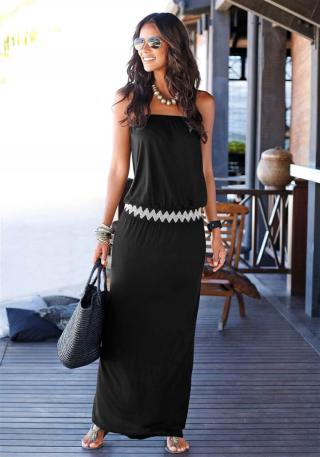 LASCANA Šaty  biela / čierna dámské 44