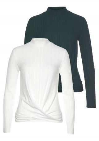 LASCANA Tričko  biela / čierna dámské XXS-XS