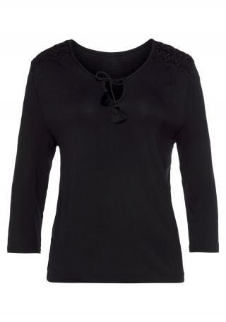 LASCANA Tričko  čierna dámské 4XL-5XL
