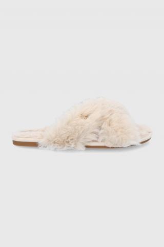 Lauren Ralph Lauren - Papuče dámské béžová 36