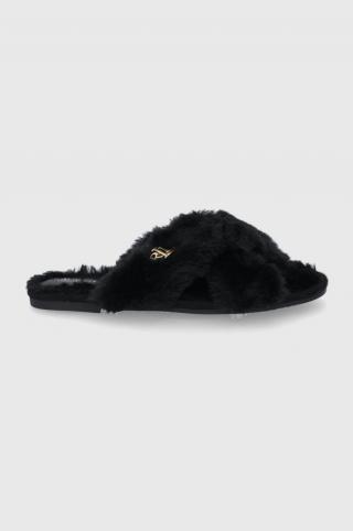 Lauren Ralph Lauren - Papuče dámské čierna 36