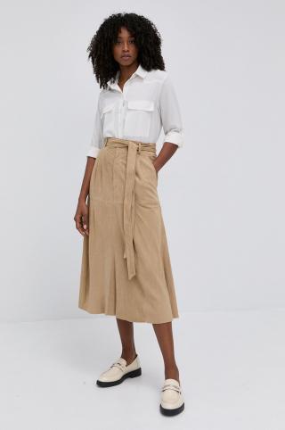 Lauren Ralph Lauren - Semišová sukňa dámské béžová 36