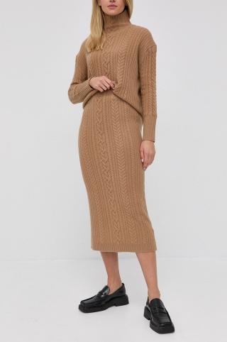 Lauren Ralph Lauren - Vlnená sukňa dámské béžová XS