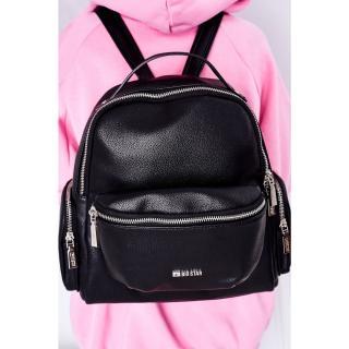 Leather Backpack / Kidney Bag 2in1 Big Star HH574056 Black Other UNIVERZÁLNÍ