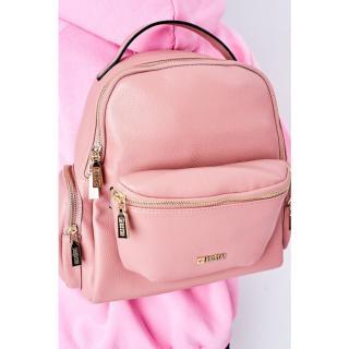 Leather Backpack / Kidney Bag 2in1 Big Star HH574059 Pink Other UNIVERZÁLNÍ
